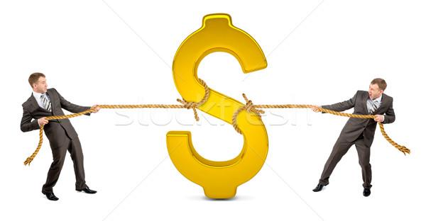 Dollaro un altro uomo simbolo del dollaro Foto d'archivio © cherezoff