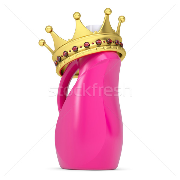 Crown on plastic bottle of household chemicals Stock photo © cherezoff