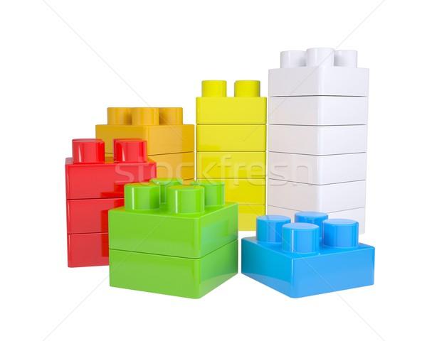 Staircase of color children's blocks Stock photo © cherezoff