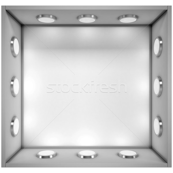 White shelf with a light source Stock photo © cherezoff