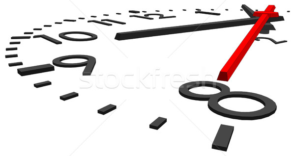 Stock photo: Round clock