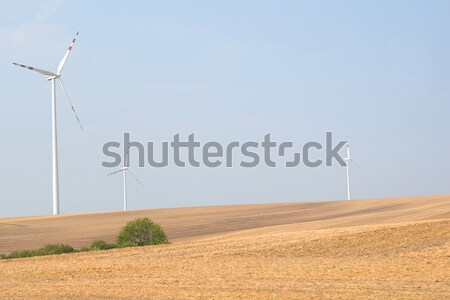 Landscape with wind power stations Stock photo © cherezoff