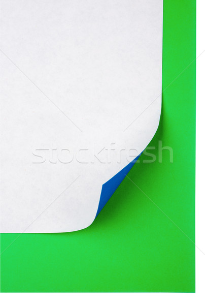 Colorful note paper with curl Stock photo © cherezoff