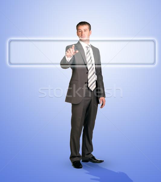 üzletember megérint böngésző holografikus képernyő internet Stock fotó © cherezoff