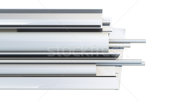 Metal products on white background Stock photo © cherezoff