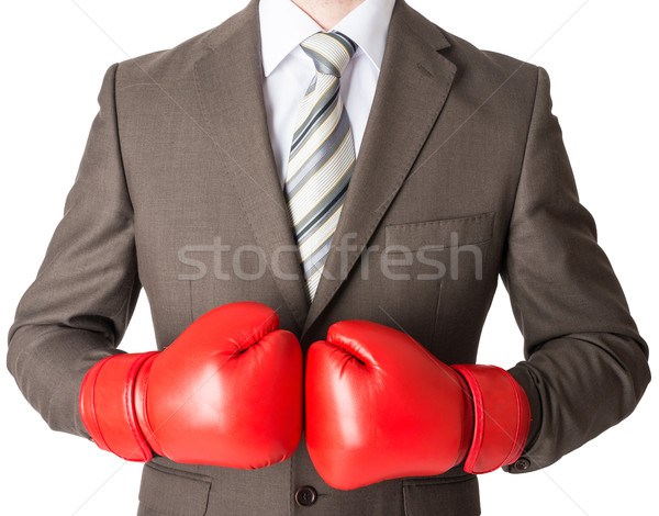 Businessman in boxing gloves  Stock photo © cherezoff