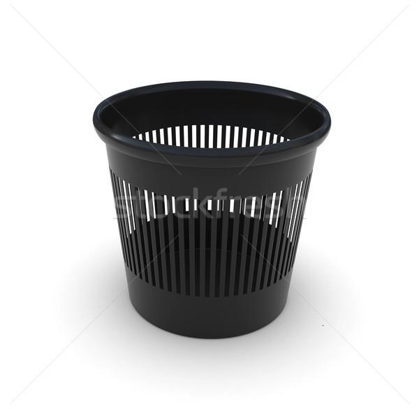 черный служба мусорный ящик 3D чистой Сток-фото © cherezoff