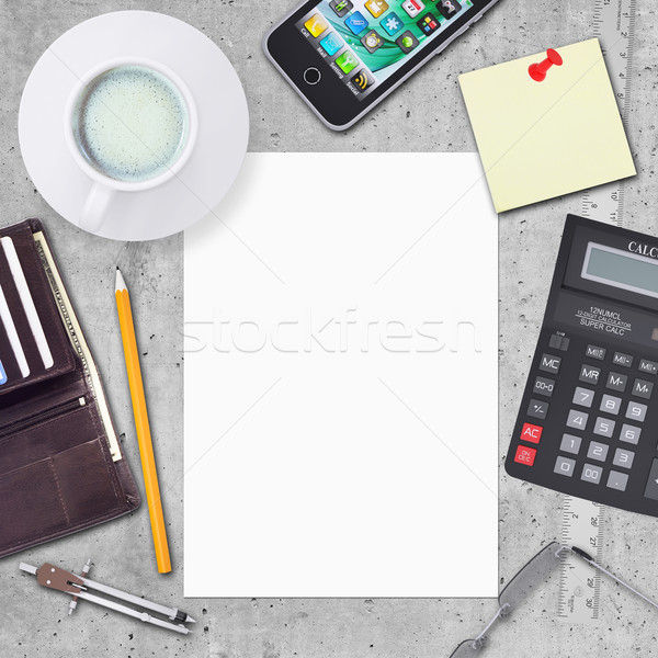 Business concept with office and business work items Stock photo © cherezoff