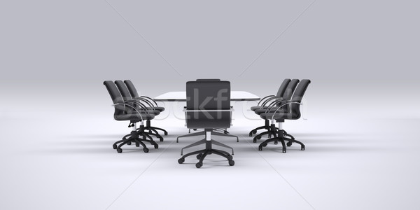 Conference table and office chairs Stock photo © cherezoff