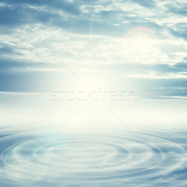 Natural blue sky background with bright spot Stock photo © cherezoff