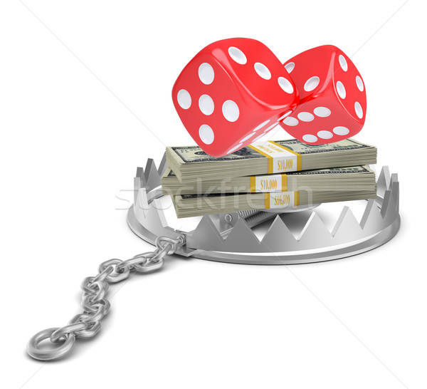Dice with money in bear trap Stock photo © cherezoff