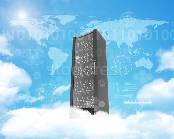 Metal locker on cloud in sky Stock photo © cherezoff