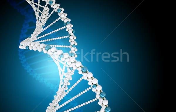 DNA鑑定を 青 抽象的な 表示 医療 ストックフォト © cherezoff