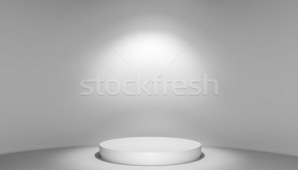 Stock fotó: 3d · illusztráció · színpad · pódium · fény · sablon · terv