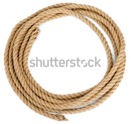 ロープ ループ 孤立した 白 クローズアップ テクスチャ ストックフォト © cherezoff