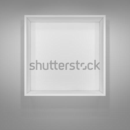 Verlicht witte plank presentaties grijs 3d illustration Stockfoto © cherezoff