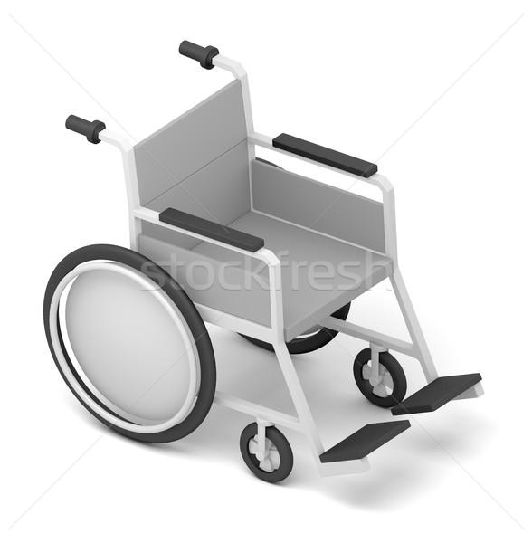 Cadeira de rodas isolado branco ilustração 3d preto roda Foto stock © cherezoff
