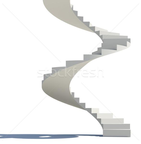 White spiral staircase Stock photo © cherezoff