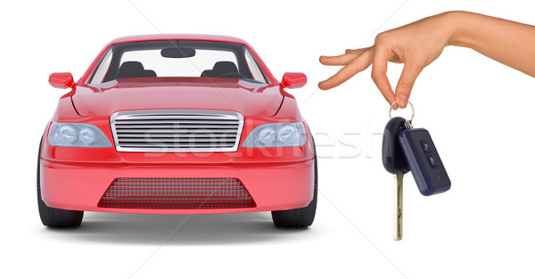 Hand holding keys and red car Stock photo © cherezoff