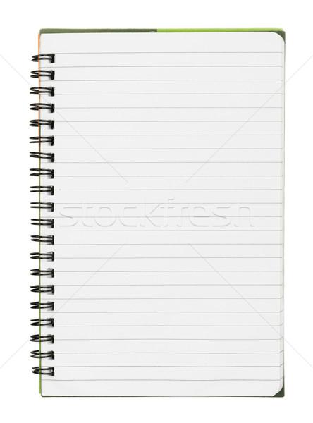 Copybook on white Stock photo © cherezoff
