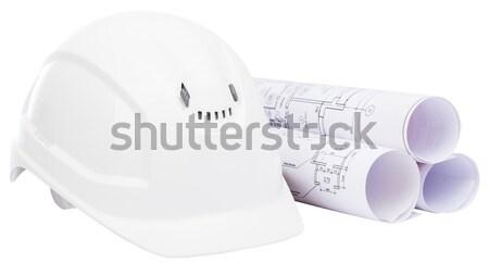 Helmet with blue print Stock photo © cherezoff