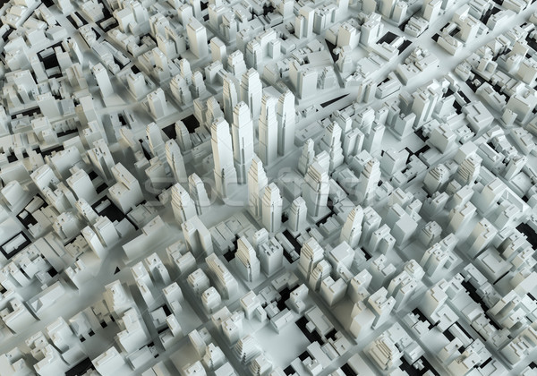 White abstract city. View from above Stock photo © cherezoff