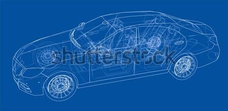 Stock fotó: Emberek · autó · kék · jövő · technológiák · tudás