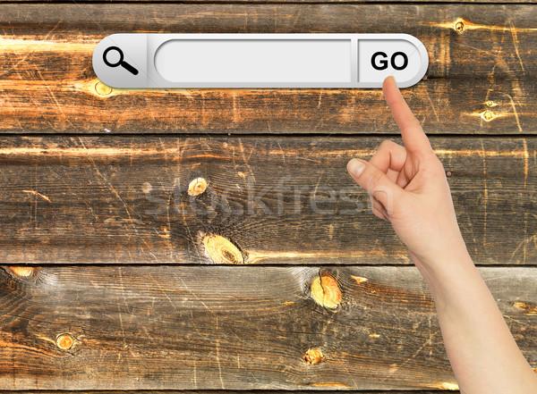 Mano humana búsqueda bar navegador Foto stock © cherezoff