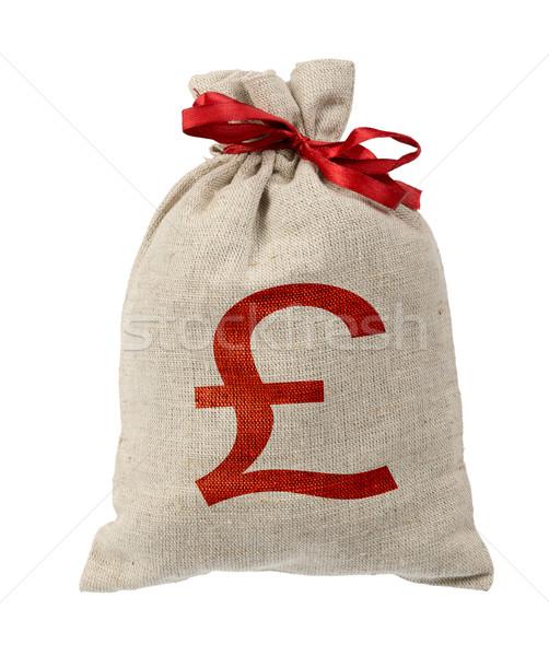 Pénz táska piros zenekar font felirat Stock fotó © cherezoff