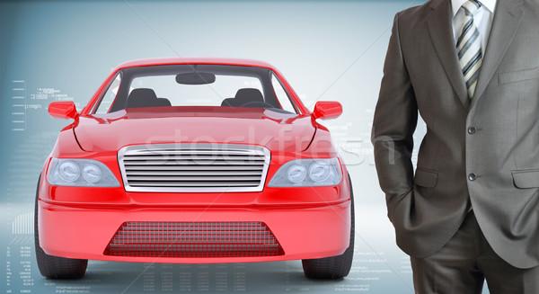Businessman with car Stock photo © cherezoff