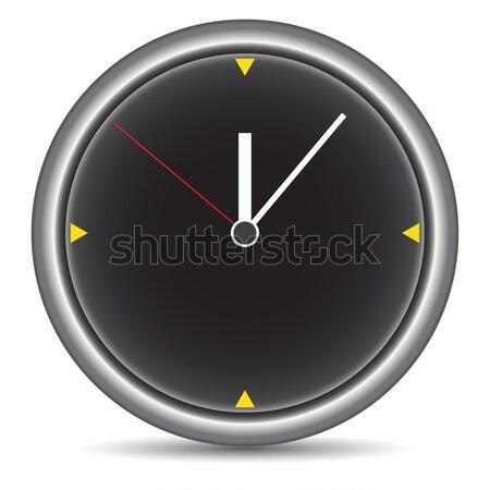 Round clock on white Stock photo © cherezoff