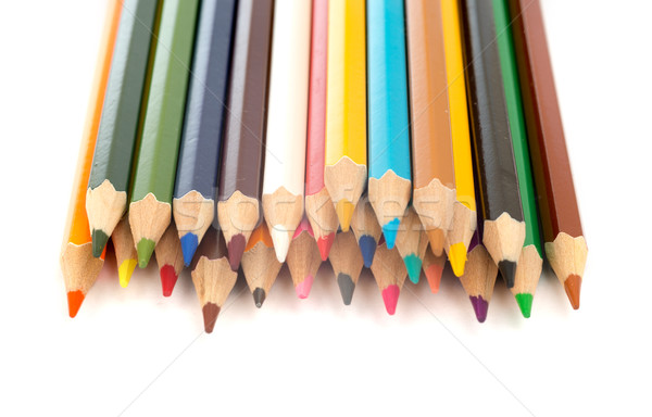 Set of crayons on white Stock photo © cherezoff