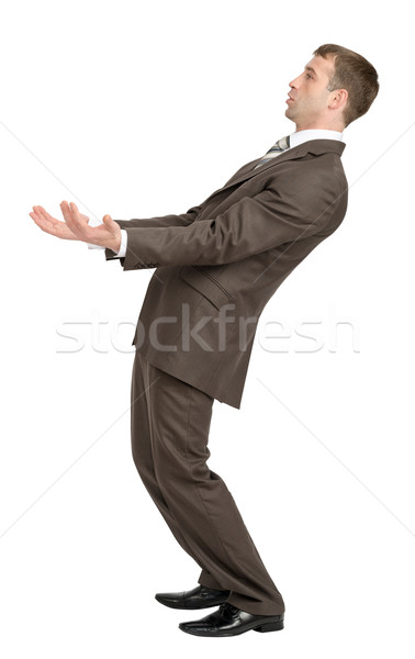 Businessman leaned back with empty hands  Stock photo © cherezoff