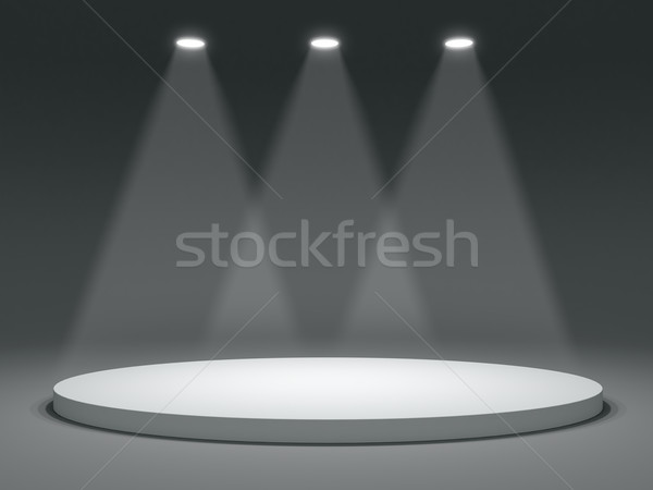 Stock photo: Round shape stage