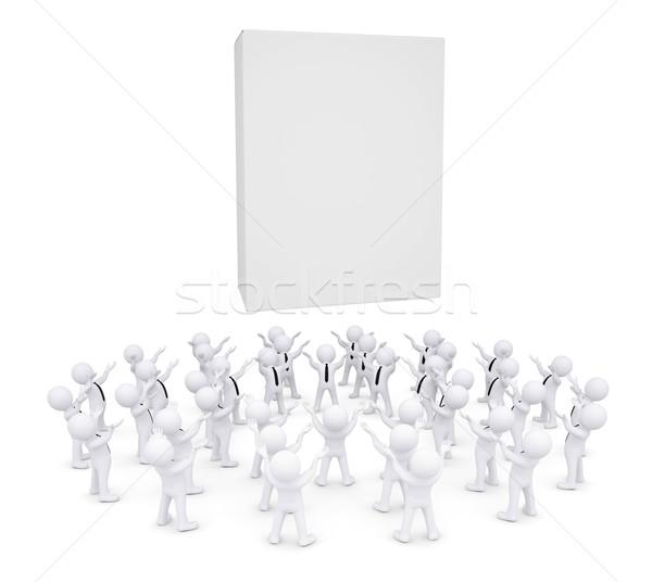 Group of white people worshiping box Stock photo © cherezoff
