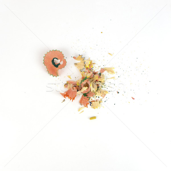 Color pencil shaves Stock photo © cherezoff