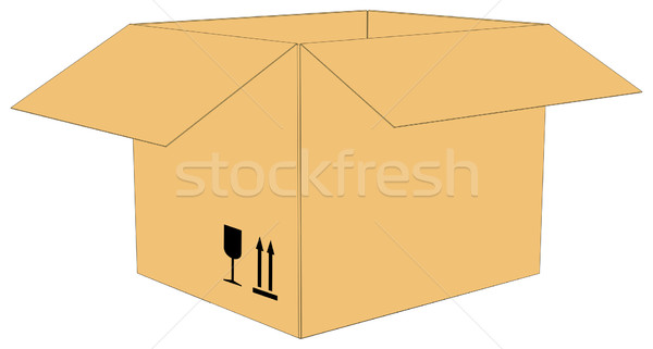 Open carton box Stock photo © cherezoff