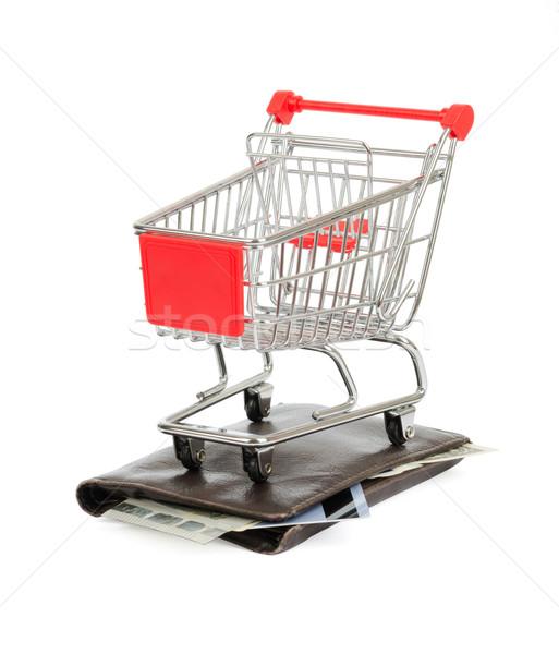 ショッピングカート 財布 孤立した 白 ショッピング カード ストックフォト © cherezoff