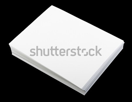 Blank sheet of paper on black, top view Stock photo © cherezoff