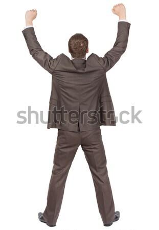 ビジネスマン 背面図 孤立した 白 オフィス ストックフォト © cherezoff