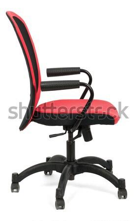 красный офисные кресла изолированный белый черный пластиковых Сток-фото © cherezoff