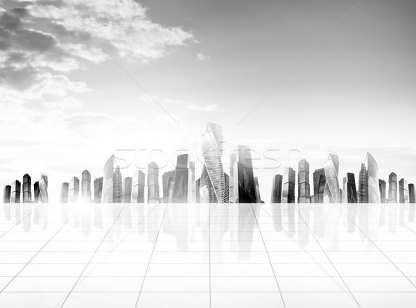 Cityscape with blue sky Stock photo © cherezoff