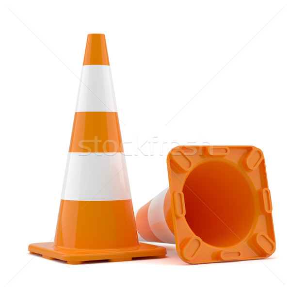 Two traffic cones Stock photo © cherezoff