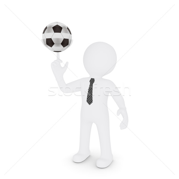 The white man turns on his finger football Stock photo © cherezoff