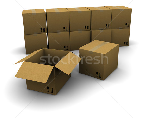 Group of cardboard boxes Stock photo © cherezoff