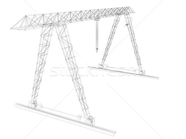 Gantry crane. Wire-frame Stock photo © cherezoff