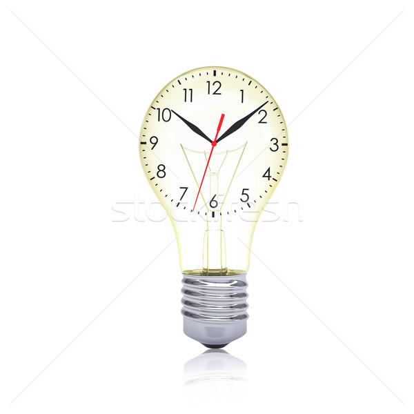 Clock face inside the bulb Stock photo © cherezoff