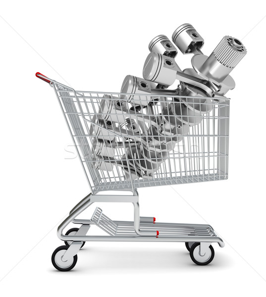 Engine in shopping cart Stock photo © cherezoff