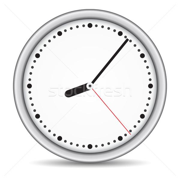Round clock with white clock-face Stock photo © cherezoff