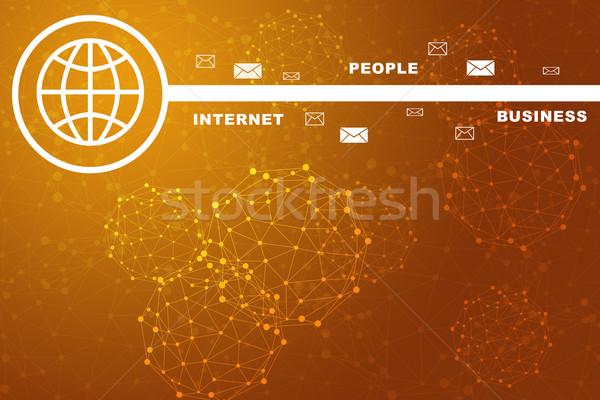 Moleculen business woorden kleurrijk abstract Stockfoto © cherezoff
